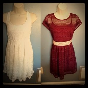 Lot of two very cute crocheted dresses